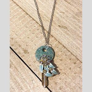Glitter Key Necklace